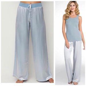 PJ Harlow Jolie Satin Lounge Pants Blue